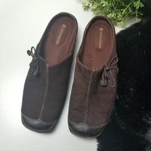 Naturalizer Brown Leather Suede Slip On 727N19